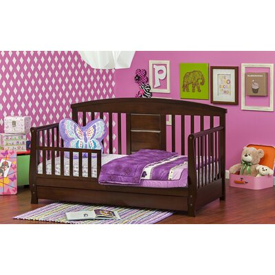 Deluxe Toddler Daybed with Storage Color: Espresso