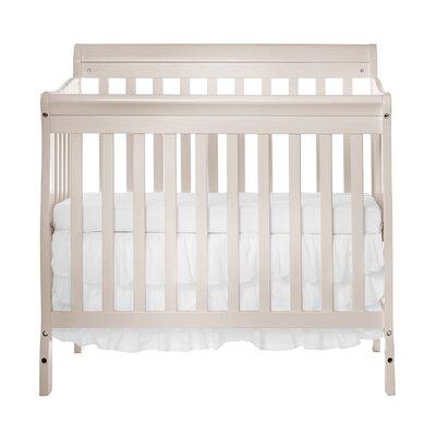 Aden 4-in-1 Convertible Mini Crib Color: French White