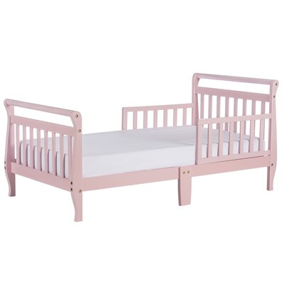 Toddler Sleigh Bed with Safety Rails Color: Pink