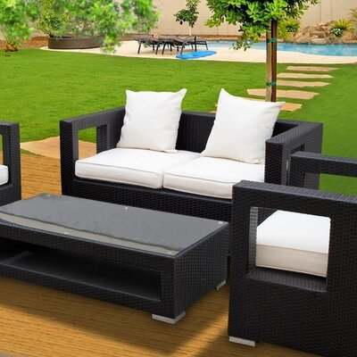 Modway Lunar 5 Piece Deep Seating Group with Cushions