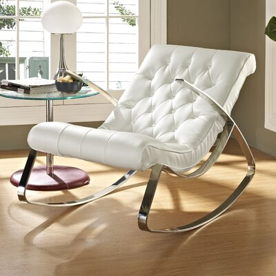Canoo Rocking Chair Upholstery: White