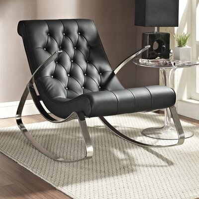 Canoo Rocking Chair Upholstery: Black