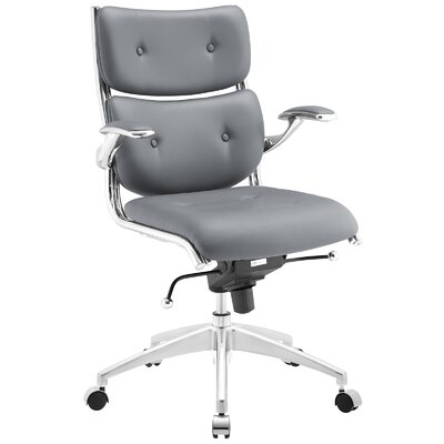 Push Mid-Back Desk Chair Upholstery: Gray