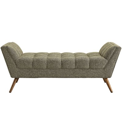 Freeborn Upholstered Bench Upholstery: Oatmeal