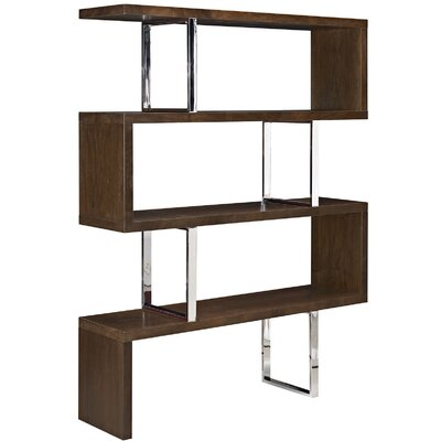 Meander Cube Unit Bookcase Color: Walnut