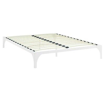 Ollie Bed Frame Size: Full, Color: White