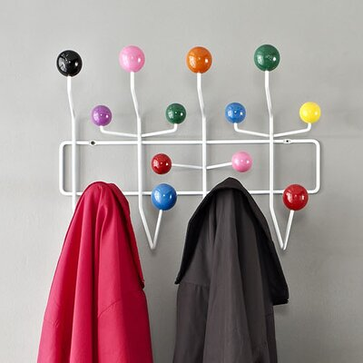 Gumball Wall Mounted Coat Rack Color: Green/Blue/Red