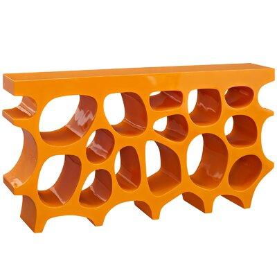 """Wander Console Table Color: Orange, Size: 33"""" H x 63"""" W x 12"""" D"""