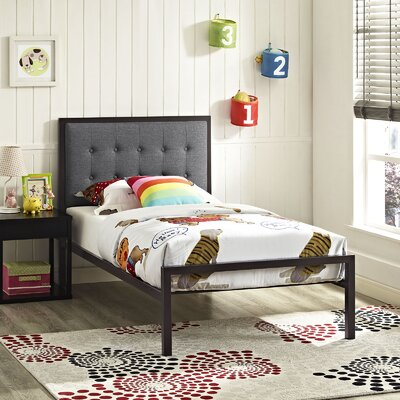 Millie Twin Platform Bed Accessory Color: Gray, Color: Brown