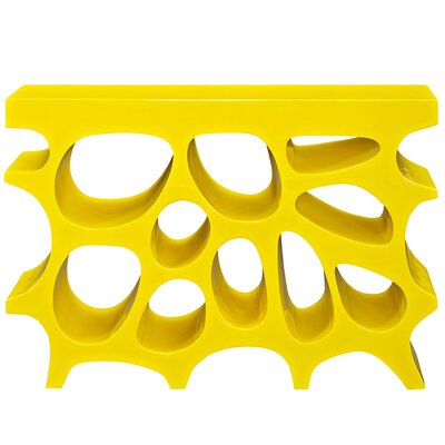 """Wander Console Table Color: Yellow, Size: 33"""" H x 47"""" W x 12"""" D"""