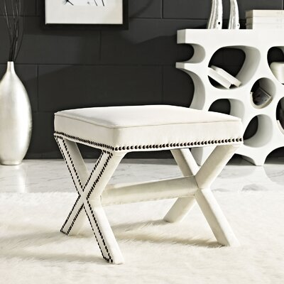 Rivet Vanity Stool Color: Ivory