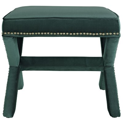 Rivet Vanity Stool Color: Green