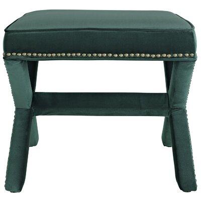 Rivet Vanity Stool Color: Green