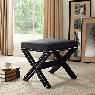 Rivet Vanity Stool Color: Black