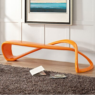 Mobius Fiberglass Bench Color: Orange