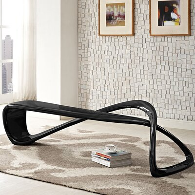 Mobius Fiberglass Bench Color: Black