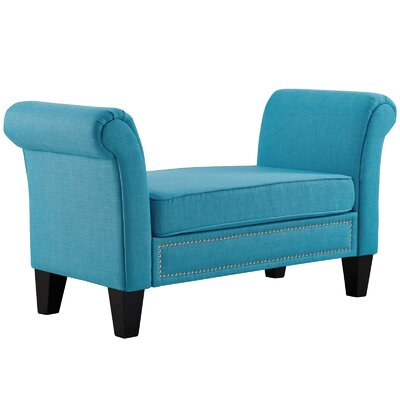 Mikala Upholstered Bench Upholstery Color: Pure Water