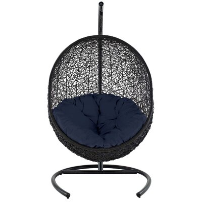 Encase Swing Chair with Stand Color: Navy