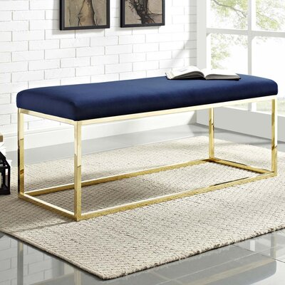 Jairo Upholstered Bedroom Bench Upholstery: Navy