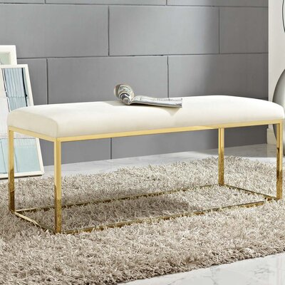 Jairo Upholstered Bedroom Bench Upholstery: Ivory