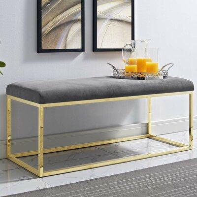 Jairo Upholstered Bedroom Bench Upholstery: Gray