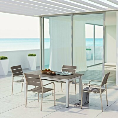 Coline 5 Piece Outdoor Dining Set