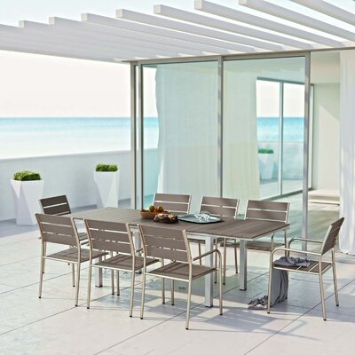 Coline 9 Piece Outdoor Dining Set