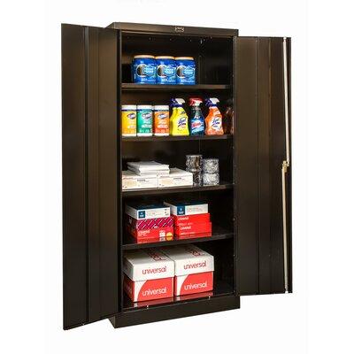 """800 Series Storage Cabinet Size: 78"""" H x 48"""" W x 18"""" D, Color: Black"""