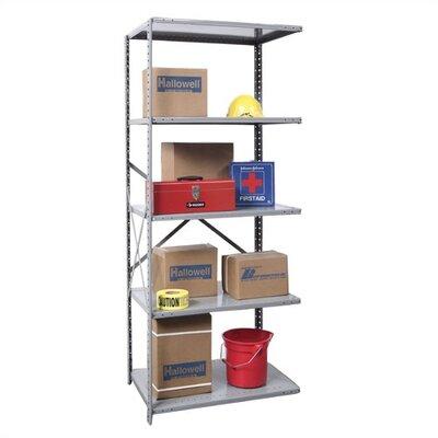 "Hi-Tech Open Type Adder 4 Shelf Shelving Unit Size: 36"" W x 12"" D x 87"" H"