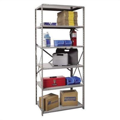"Hi-Tech Open Type 5 Shelf Shelving Unit Starter Size: 36"" W x 12"" D x 87"" H"