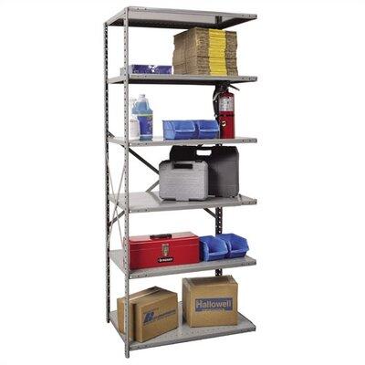 "Hi-Tech Open Type Adder 5 Shelf Shelving Unit Size: 36"" W x 12"" D x 87"" H"