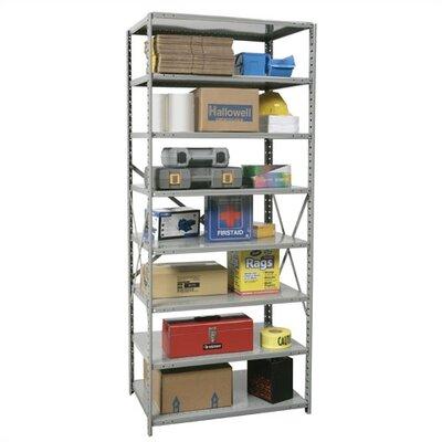 "Hi-Tech Open Type 7 Shelf Shelving Unit Starter Size: 36"" W x 18"" D x 87"" H"