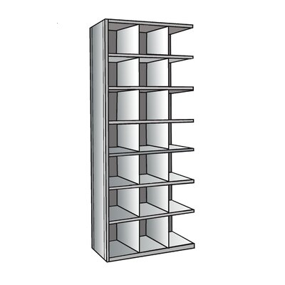"Hi-Tech Bin 87"" H 7 Shelf Shelving Unit Add-on Size: 24"" D"