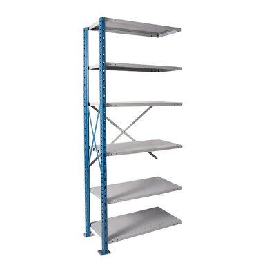 "H-Post High Capacity Open Style 7 Shelf Shelving Unit Add-on Size: 48"" W x 24"" D x 87"" H, Shelf Capacity: 500 lbs"