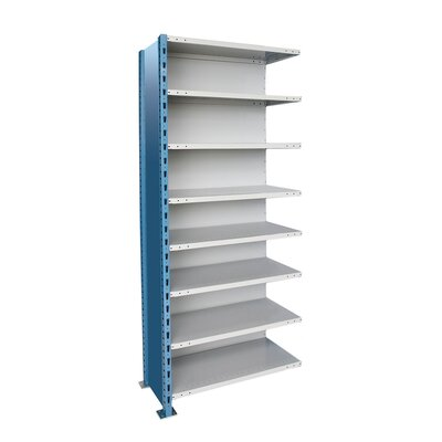 "H-Post High Capacity Closed Style 7 Shelf Shelving Unit Add-on Size: 36"" W x 18"" D x 87"" H, Shelf Capacity: 1200 lbs"