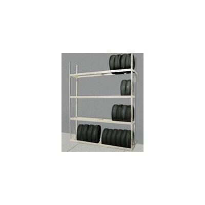 "Rivetwell Tire Storage 120"" H 4 Shelf Shelving Unit Starter Size: Single row"