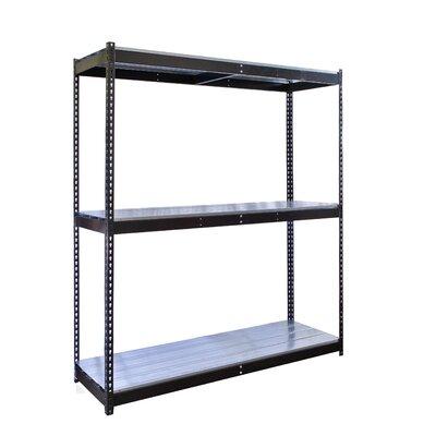 "Rivetwell Double Boltless 2 Shelf Shelving Unit Starter Size: 72"" W x 18"" D"