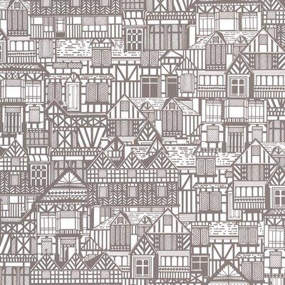 Graham & Brown Tudor Houses 10m L x 52cm W Roll Wallpaper