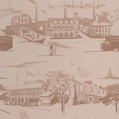 Graham & Brown Northern Toile 10m L x 52cm W Roll Wallpaper
