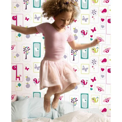 Graham & Brown Ribbon Animal Sanctuary 10m L x 52cm W Roll Wallpaper