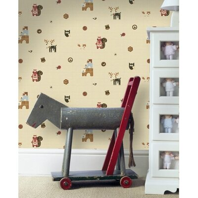 Graham & Brown Woodland Critters Multi 10m L x 52cm W Roll Wallpaper