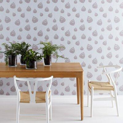 Graham & Brown Falling Leaf Moonstone 10m L x 52cm W Roll Wallpaper