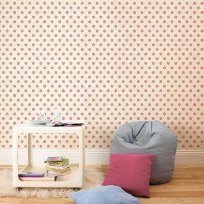 Graham & Brown Polka Dott Flock 10m L x 52cm W Roll Wallpaper