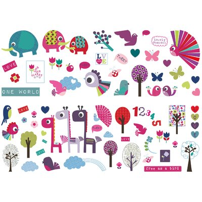 Graham & Brown Ribbon Animal Sanctuary Wall Sticker
