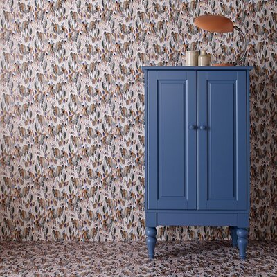 Graham & Brown Multi coloured Feathers 10m L x 52cm W Roll Wallpaper