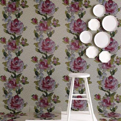 Graham & Brown Multi coloured Tapestry Rose 10m L x 52cm W Roll Wallpaper