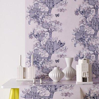 Graham & Brown Lilac 10m L x 52cm W Roll Wallpaper