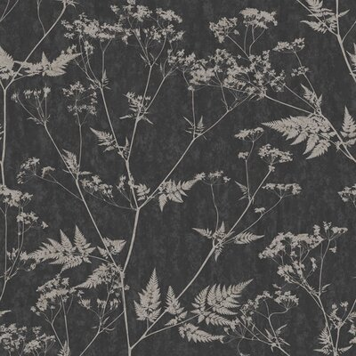 Graham & Brown Gilded Fern 10m L x 52cm W Roll Wallpaper