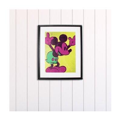 Graham & Brown Neon Mickey Mouse Disney Framed Vintage Advertisement
