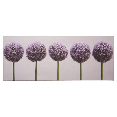 Graham & Brown Row of Alliums Photographic Print on Canvas